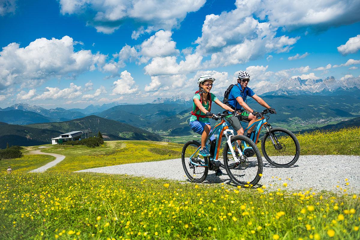 Mountainbiken im Sommerurlaub in Flachau, Salzburg