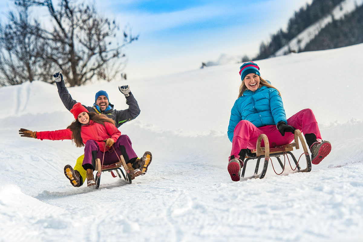 Rodeln im Winterurlaub in Flachau, Ski amadé