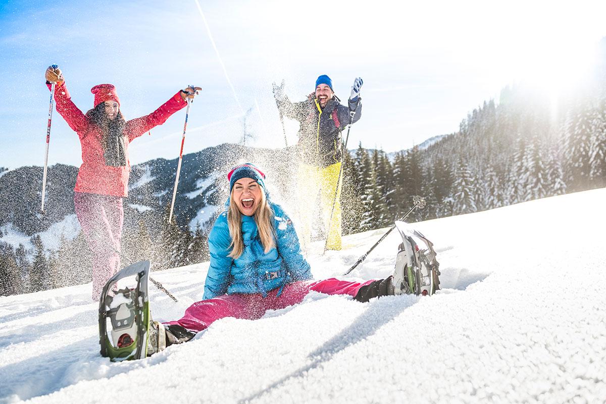 Schneeschuhwandern im Winterurlaub in Flachau, Ski amadé