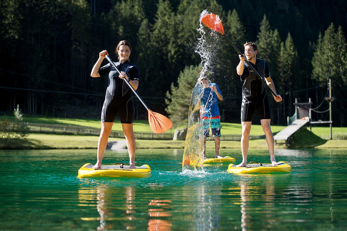 Stand-Up-Paddeln im Sommerurlaub in Flachau, Salzburg